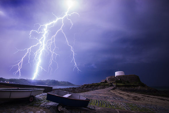 Lightning over Fort Grey